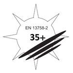 normy EN 13758-2 UPF35